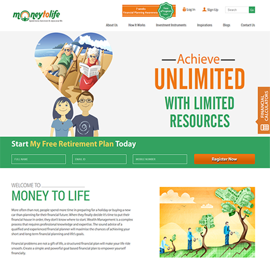 Money-To-Life-Website-Redesigning